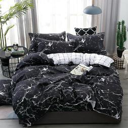 Marble Pattern Bedding Sets Duvet Cover Set With Pillow Case