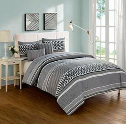 VCNY Home Marcus Reversible 5 Piece Bedding Comforter Set Ki