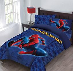 Marvel Spiderman Friendly Neighborhood Twin Comforter Set wi