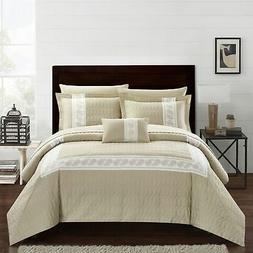 Chic Home Mason 8 Piece Hotel Collection Applique Comforter
