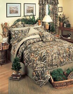 Realtree Max 4 Camo 13 Pc Queen Comforter Set - Cabin Lodge