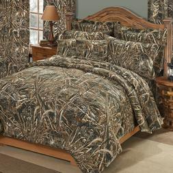 Realtree Max-5 King Comforter Set w/sheets 7pc Ducks Geese B