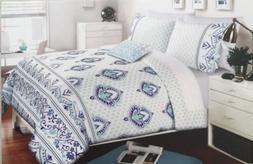 Alex & Zoe Medallion , Scroll 3PC Twin XL Comforter Set-Roya