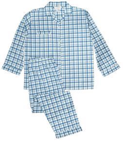 Men's 2PC Comfort Zone  Long Sleeve/Long Leg Pajama Set Size
