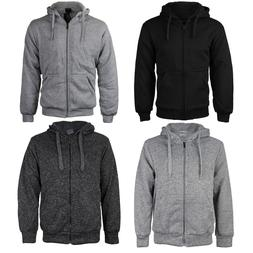 Men's Athletic Warm Soft Sherpa Lined Fleece Zip Up Sweater
