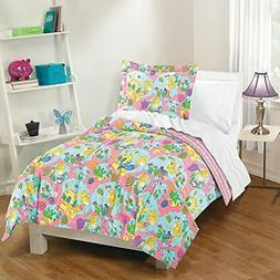 Mermaid Castle Twin Comforter Set, Pink Home &amp Kitchen