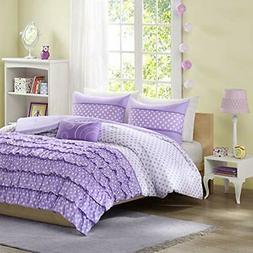 """Mi-Zone Morgan Comforter Set Purple Full/Queen Home """" Kitche"""