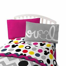 Mickey Mouse Chevron Multicolor 4 Pc Full Sheet Set - NEW!