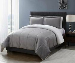 VCNY Home Micromink coforter Set, King, Grey