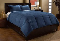 Luxlen Microfiber Dobby Plaid Down Alternative Comforter Set