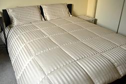 Luxlen Microfiber Dobby Stripe Down Alternative Comforter Se