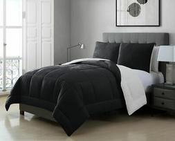 Micromink Sherpa Silky Smooth Plush Oversized Comforter Set