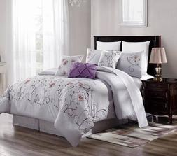 Milly 7 Piece Comforter Set Cotton Touch Oversized Embroider