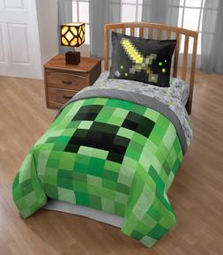 Minecraft Bedding Set For Boys Comforter Twin Full Sham Reve
