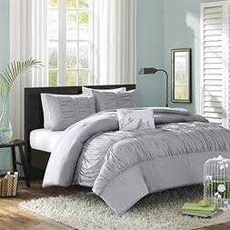 Mi-Zone Mirimar King/Cal King Size Bed Comforter Set - Grey,