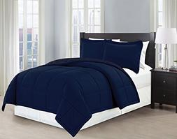 Mk Collection 3 Pc Down Alternative Comforter Set Solid king