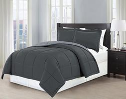 Mk Collection 3 Pc Down Alternative Comforter Set Solid Reve