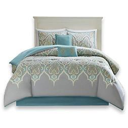 Comfort Spaces - Mona Cotton Printed Comforter Set - 6 Piece