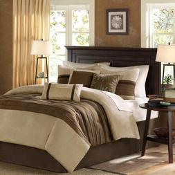 Madison Park MP10-303 Palmer Comforter Set, Natural