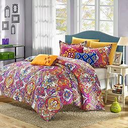 Chic Home Mumbai Bright Paisley King 8 Piece Comforter Bed I