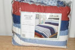 Nouvelle Home Nautical Stripe Comforter Set-Twin/Twin XL