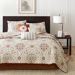 Home Essence Neda 6-Piece Coverlet Bedding Set, Ivory