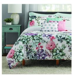 New 10 Piece Jade Floral Full Size Comforter Set Bed in a Ba
