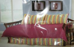 NEW 4PC Camp  Red Green Blue Yellow and Orange DAYBED Comfor