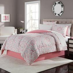 New 8 Piece Complete Bedding Comforter and Sheet Set in Juni