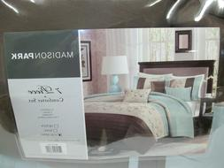 NEW Madison Park Belle 7-Pc Comforter Set Cal King Embroider