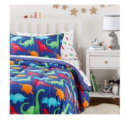 New Boy's Dinosaur Twin Size Comforter Set Bedding Bedspread
