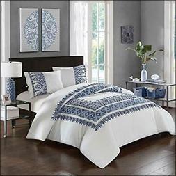 NEW Comforter Set Chic Home Full QUEEN Shams Bedskirt Sarita