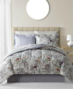 New Fairfield Square Evelyn 8 Piece White Floral King Comfor
