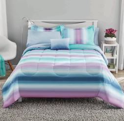 NEW Girl's Stripe Full Size Comforter Set Teen Bedding Sheet