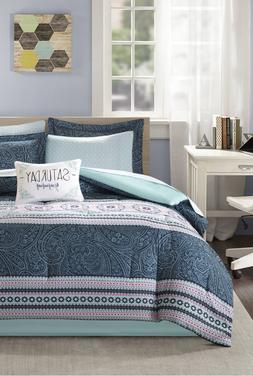New Girl's Teen 7 Piece Full Size Comforter Set Sheets Sham
