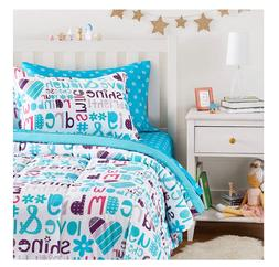 New Girl's Twin Size Comforter Set Sheets Bed in a Bag Teen