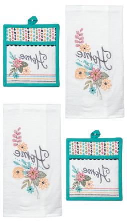 New Kay Dee Designs 4 Piece Kitchen Towel Set, Home Comfort