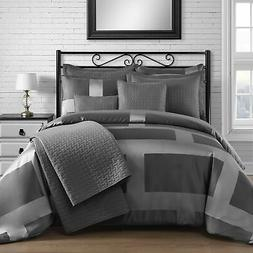 New King & Queen Home Modern Frame Microfiber Lacquer 5 Piec