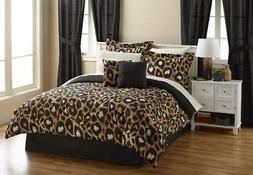 NEW Alcove Leopard Spots 20-Pc. Bedroom Set - Size: Queen