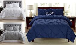 NEW MODERN & CONTEMPORARY DIAMOND PINCHED PINTUCK COMFORTER