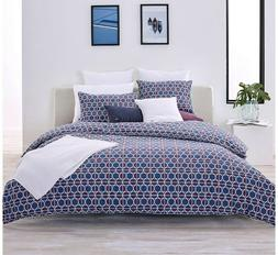 New, Lacoste Mogador Throw Blanket Comforter Set, Twin/ Twin
