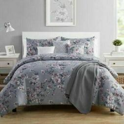 New!! VCNY Home Mosi Full /Queen comforter set 7 Piece Gray