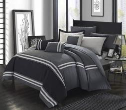 New Opened Chic Home Zarah 10 Piece Bedding with Sheet Set,