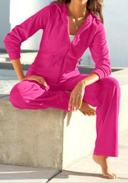 NEW Real Comfort CHADWICKS of BOSTON Hoodie Pant Set PINK Tr