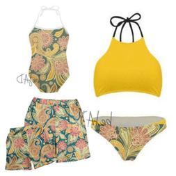 New Summer Family Parent-child Swimsuit Comfort Set Bikini B