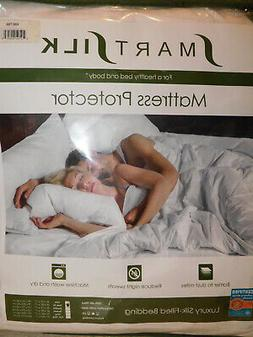 NEW TWIN XL SIZE SMARTSILK MATTRESS PAD PROTECTOR LUXURY SIL