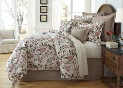 NEW Villa by Noble Excellence Gianna Floral Cotton & Linen C