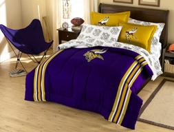 NFL Minnesota Vikings Full Bed in a Bag with Applique Comfor