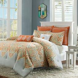 Nisha Comforter Set, Full / Queen, Orange