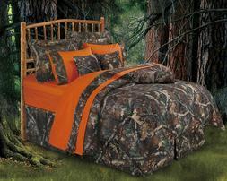 Realtree Oak Camo Hunter Special Comforter Set King BONUS Or